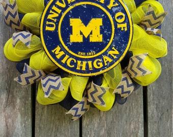 University of Michigan Wreath