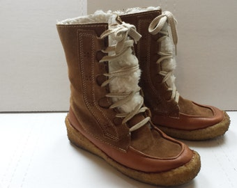 Suede Boots / Canadian Suede Mukluks / Women's size 7
