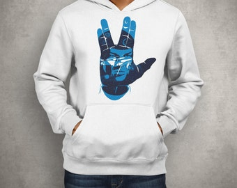 Christmas Present Spock Star Trek T shirt And Hoodie - Spock Symbol Tee - Star Trek Hoodie - Star Trek Spock Sweatshirt - Fast Shipping