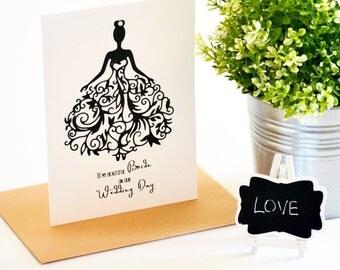 To My Bride Card, Wedding Day Card, Fiance Card, On Our Wedding Day, Bride Gift, Wedding Gift, Card for Fiance, Wife Card, Card for Bride