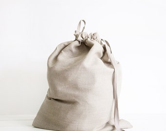 Large laundry drawstring bag