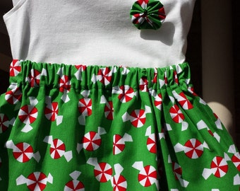 Christmas Skirt with embellished t-shirt Size 0