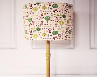 Girls nursery lamp shade, Fairy tales decor, nursery lampshade, lampshade, girl bedroom, nursery lighting, table lamp, nursery table lamp