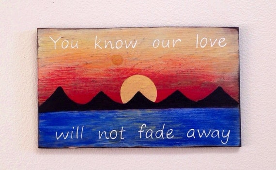 Our Love Is Fading Away: Weekend Sale Grateful Dead Lyrics On Wood Sunset Painting