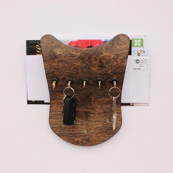 Key organizer wall key holder mail rack wall keys holder - Wall mount mail and key rack ...