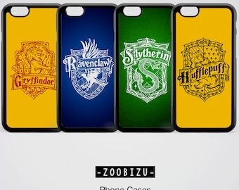 Harry Potter Phone Case Gryffindor Slytherin Ravenclaw Hufflepuff Hogwarts iPhone SE 5 5s 6 6s 7 plus Case Samsung Galaxy S8 Plus Case