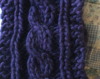 Handmade to order merino wool neck warmer scarf