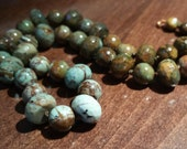 """Hand Knotted """"Green Opal"""" Necklace, 16 inch choker"""