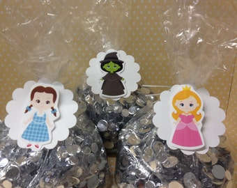 Wizard of Oz Party Candy or Favor Bags With Tags - Set of 10