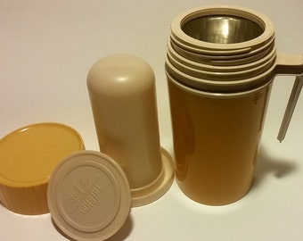 Vintage 1970 Harvest Yellow Thermos Model 7202