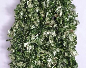 Colored Tinsel Garland - Green - Christmas Tinsel Garland - Chartreuse