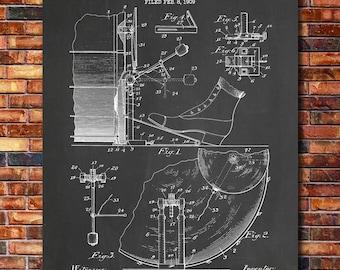 Kick Drum Patent Print Art 1909