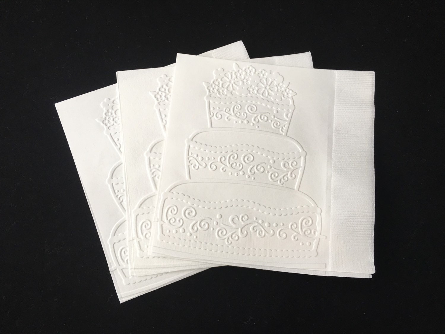 Wedding Cake Paper Napkin Cocktail Napkin Wedding Decor