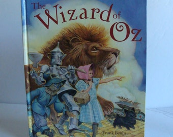 Mint The Wizard of Oz storybook by Frank Baum with illustrations by Charles Santore