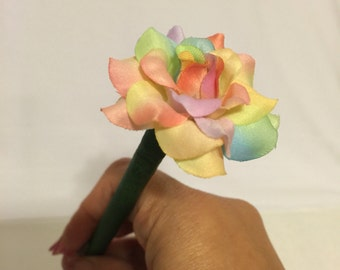 Rainbow Sherbet Mini Rose Flower Pen!!