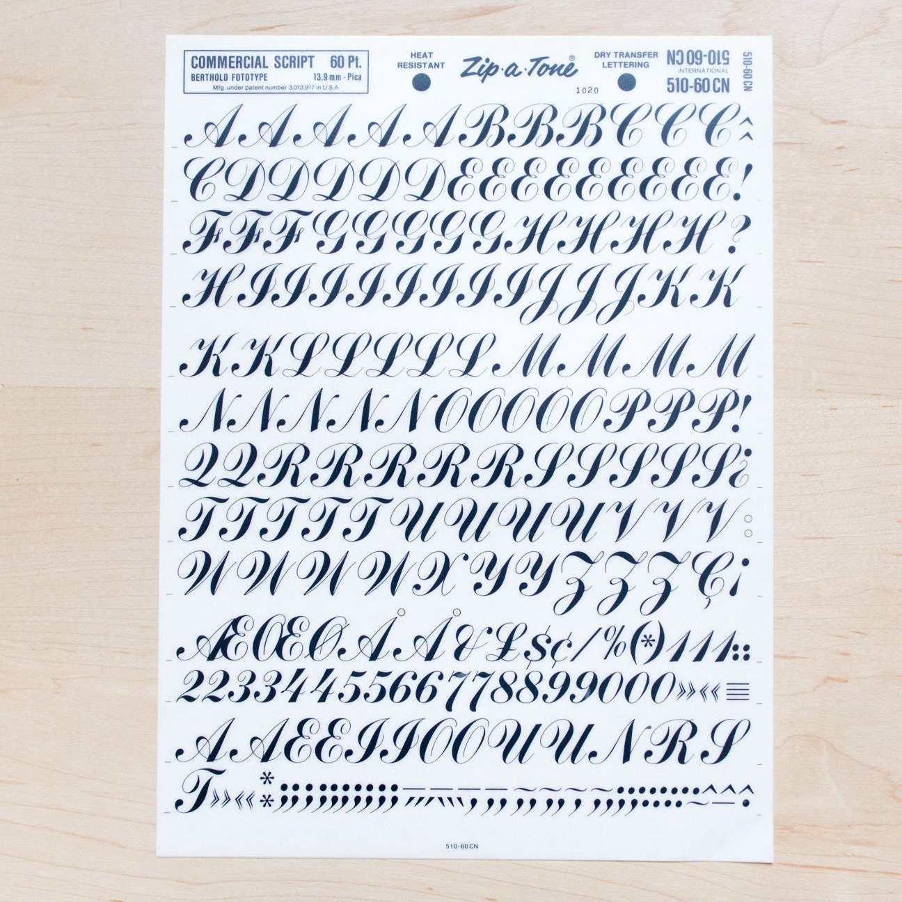 commercial script 60pt letraset rub on letters transfers dry With dry rub transfer lettering