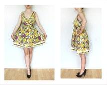 Hawaiian dress - M size vintage summer dress