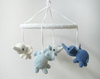 PATTERN- cutie elephant crib mobile