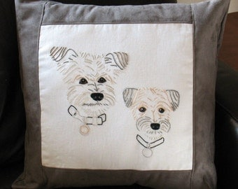 Personalized Pet Pillow, Personalized Yorkie, Personalized Dog Pillow, Custom Dog Pillow, Custom Pet Portrait Pillow, Pet Portrait Pillow