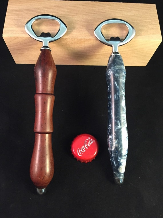 bottle opener hand turned on a wood lathe your choice of. Black Bedroom Furniture Sets. Home Design Ideas