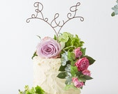 Initials Wire Cake Topper, Wedding Cake Topper, Wire Cake Topper, Cake Decorations, Cake Topper, Couples name cake topper, Name cake topper