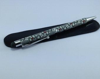 Polymer clay Ballpoint pen with stylus in many designs