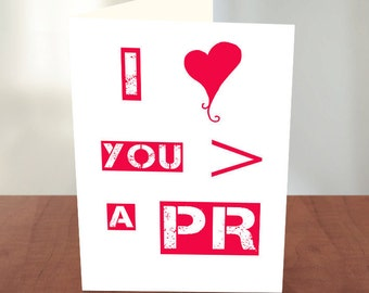 Funny Valentines Day Cards for Him -  Valentines Day Card for Her - For Runners - For Husband - Boyfriend - Girlfriend - More Than a PR
