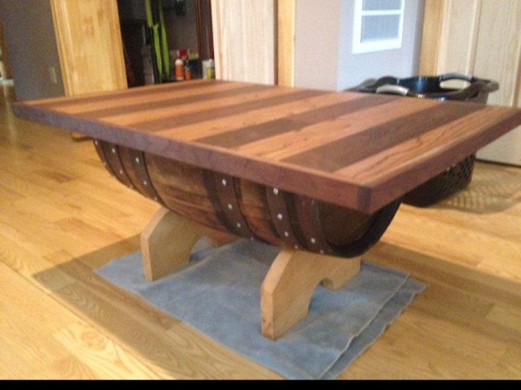 Hand Made Wine Barrel Coffee Table