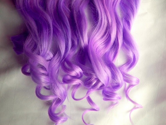 VIOLET PURPLE 100% Human Hair Extensions DOUBLE By
