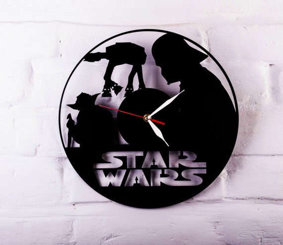 Star Wars Large Wall Clock Darth Vader Yoda By