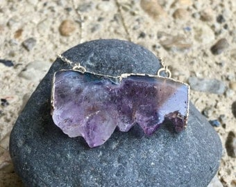 Jagged Purple Crystal Pendant