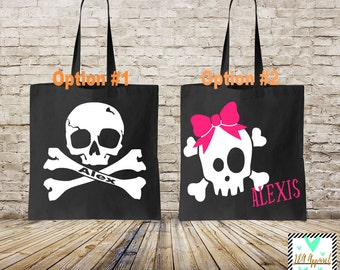 Personalized Trick or Treat Bag - Halloween Bag - Personalized Spider Tote - Halloween Trick or Treat Bag - Halloween Candy Bag