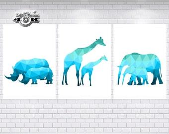 Safari Prints, Water prints, Animal prints, Nursery Prints, Boys prints, Bedroom  Wall Prints