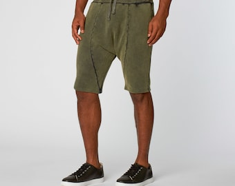 Oil Washed Sweat Shorts for Men