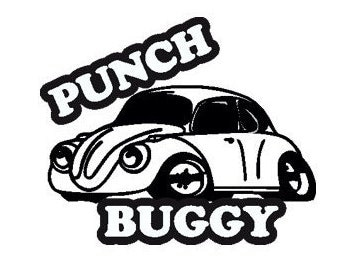 Punch Buggy VW Bug Vinyl Sticker Decal, Any Color or Size