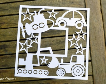 Vehicle Frame paper cut svg / dxf / eps / files and pdf printable templates for hand cutting. Digital download. Small commercial use ok