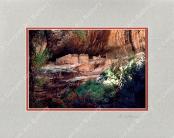 "The Castle Cliff Dwelling, Southeast Utah, Ready for 11"" x 14"" Frame"