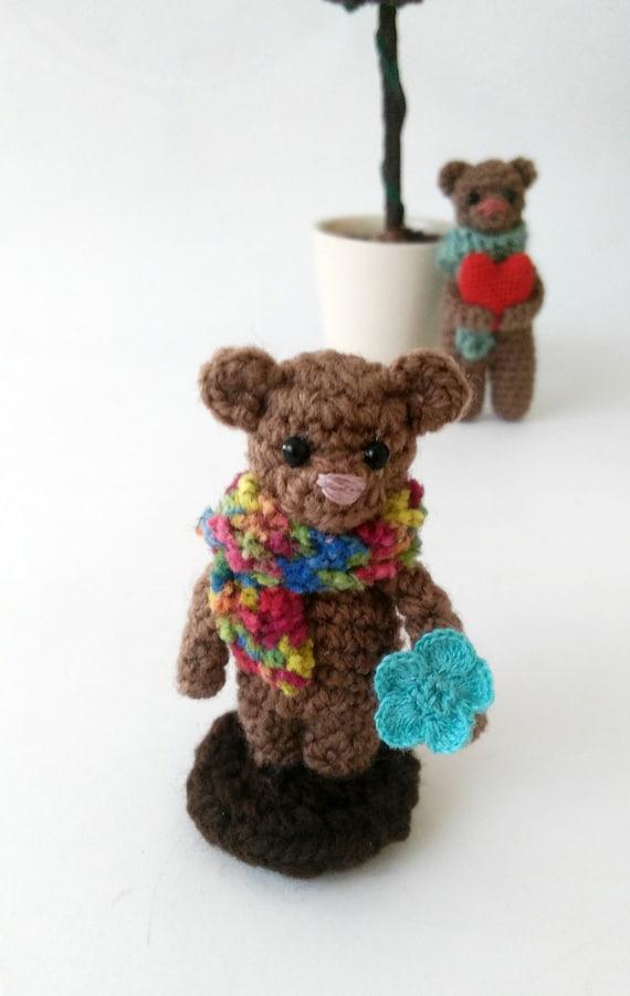 Amigurumi Mini Bear : Crochet bear doll amigurumi bear doll Mini crochet bear