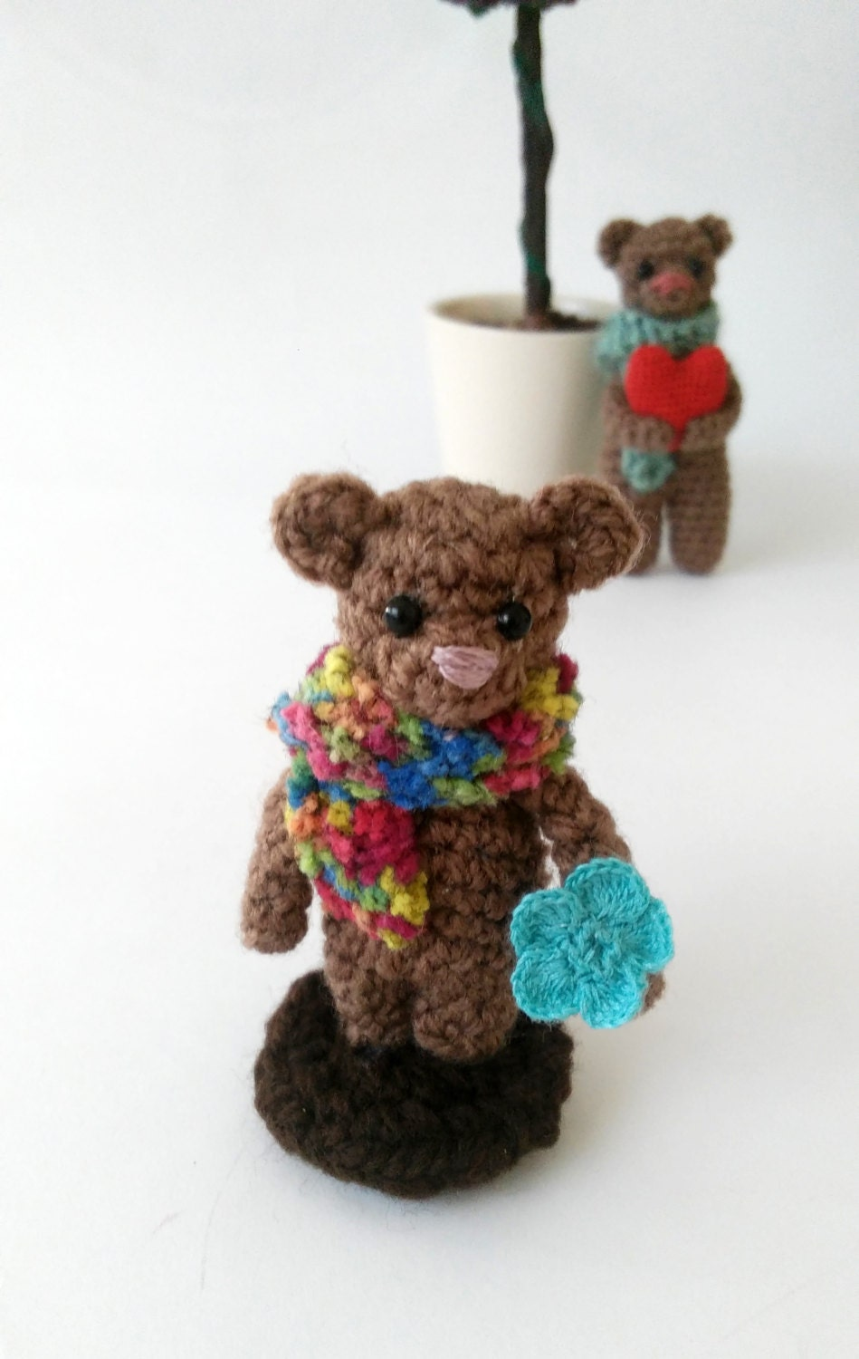 Amigurumi Mini Doll : Crochet bear doll amigurumi mini