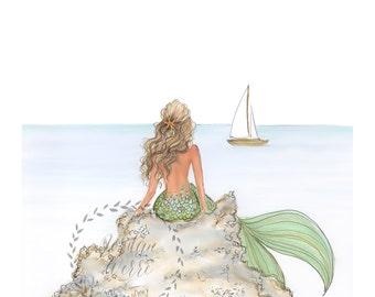 Mermaid Rock  (vertical print)