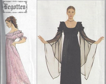 "Simplicity 8619 ""Begotten"" Pullover Long Dress Sewing Pattern, Gothic Styling, Sizes 10 12 14, Uncut"