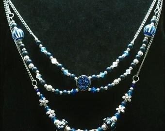 Sapphire Blue Floral