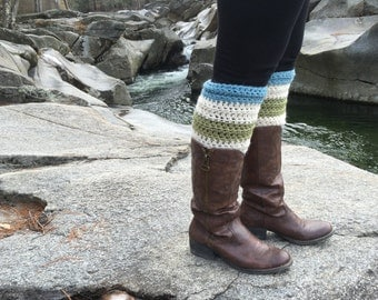Legwarmers Hand Crocheted in New Hampshire THE HOOKSETT