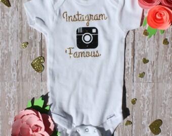 Instagram Famous! #adorable #nofilter Onesie Bodysuit for Baby Girl!