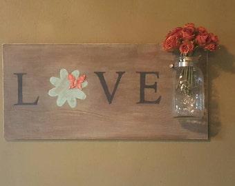 Love Mason Jar Sign