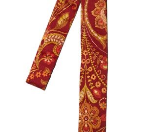 Red and Gold Skinny Tie