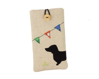 Dog iPhone case, iPhone 6 plus pouch, iPhone 7 sleeve, iPhone 6s case, iPhone 7 plus cover, iPhone 6s plus case, iPhone SE, Dog, Dachshund