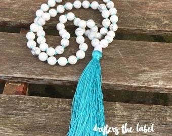 Tassel necklace- bohemian jewelry- long tassel necklace- bohemian necklace- beaded necklace- hippie necklace