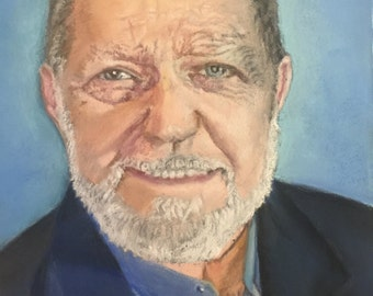 Custom commission example of pastel portrait painting