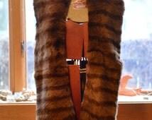 Large rabbit fur scarf/wrap